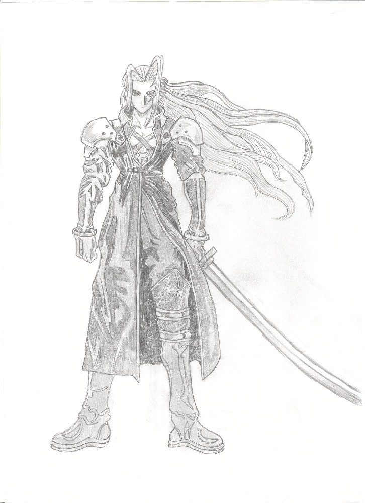 Sephiroth coloring page coloring pages for Final fantasy coloring pages